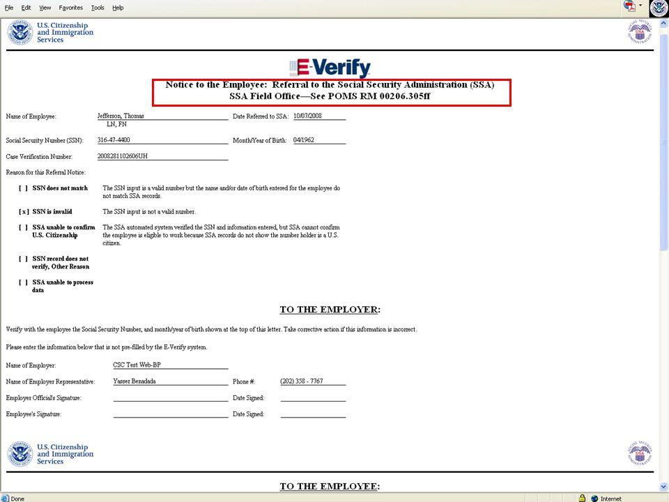 E-VERIFY PROGRAM15October 20, 2008