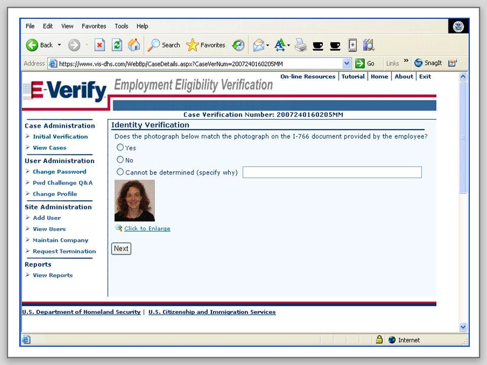 E-VERIFY PROGRAM20October 20, 2008