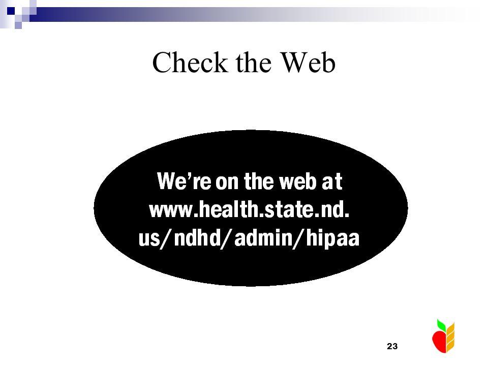 23 Check the Web