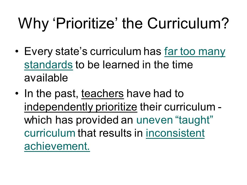 Any document or plan that defines: the work of teachers the content to be learned by the students the methods to be used in the process. Curriculum Wh