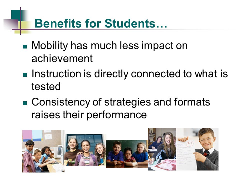 Benefits for Teachers… The instructional WHAT has been shared, making it quick and easy to develop plans Many instructional factors have been decided