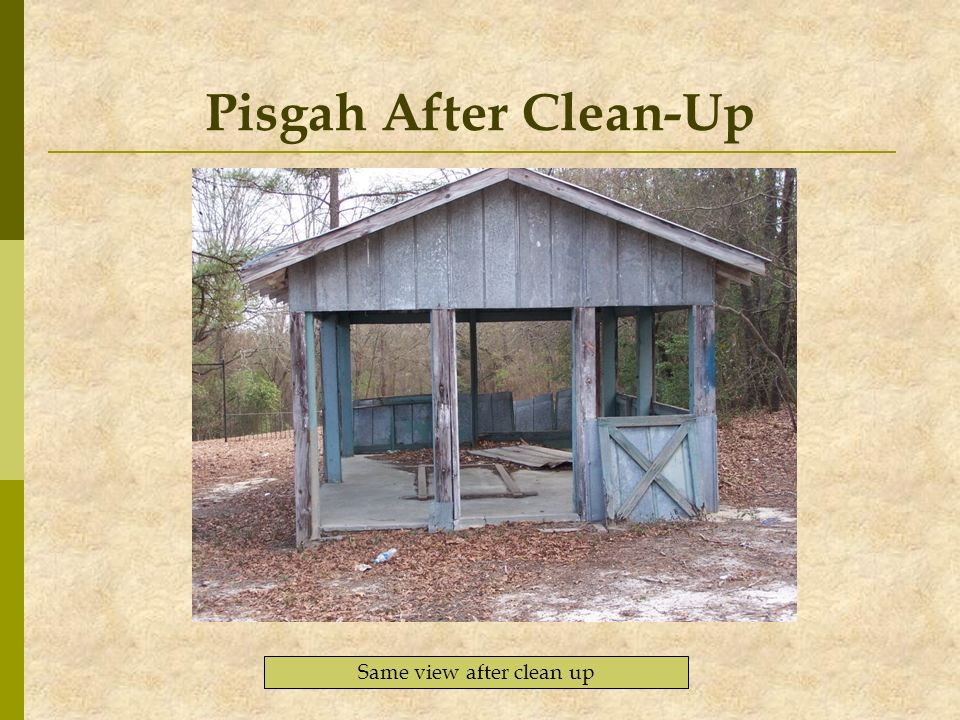 Pisgah After Clean-Up Same view after clean up