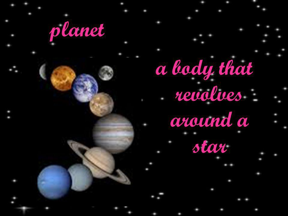 planet a body that revolves around a star