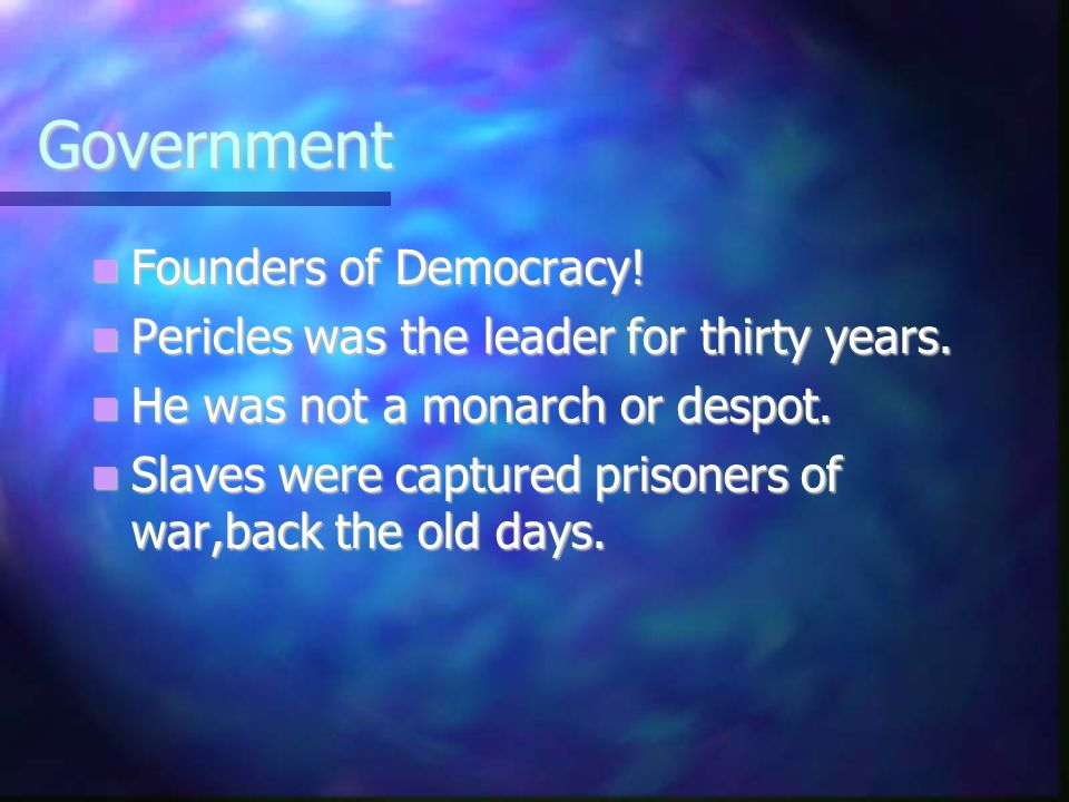 Government Founders of Democracy. Founders of Democracy.