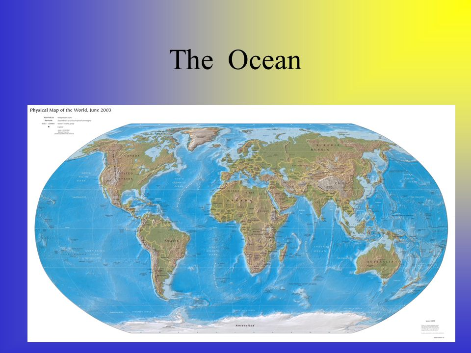 Oceans and Seas There are 5 oceans, Pacific Atlantic Indian Artic Southern There are 7 seas.