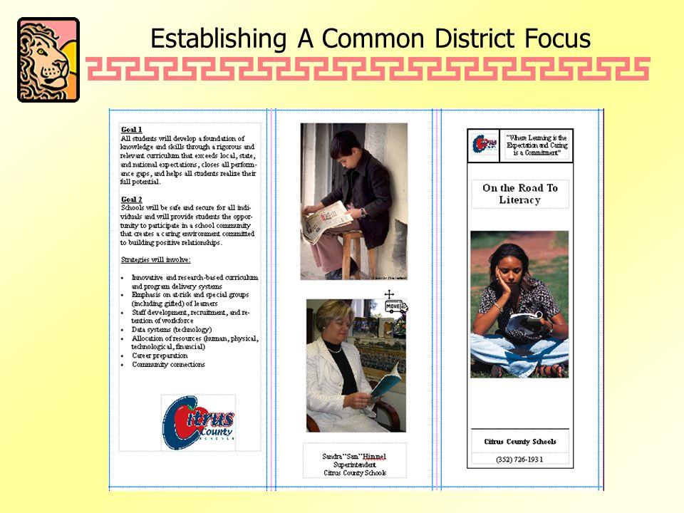 Establishing A Common District Focus