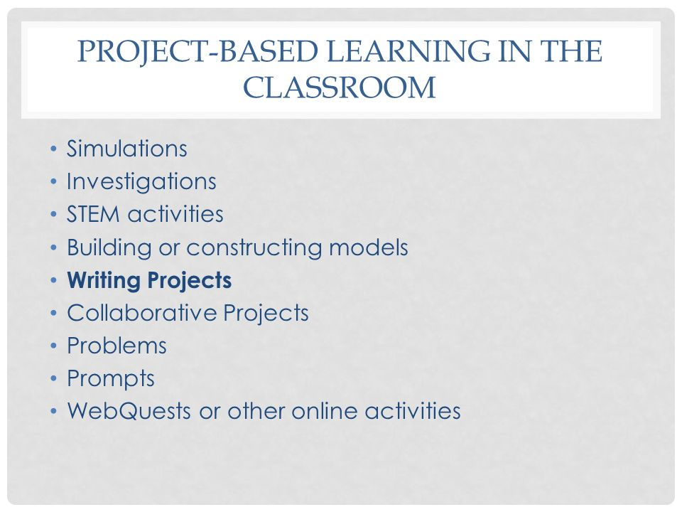 WRITING PROJECTS CLOZE ACTIVITIES, LEARNING PROJECTS