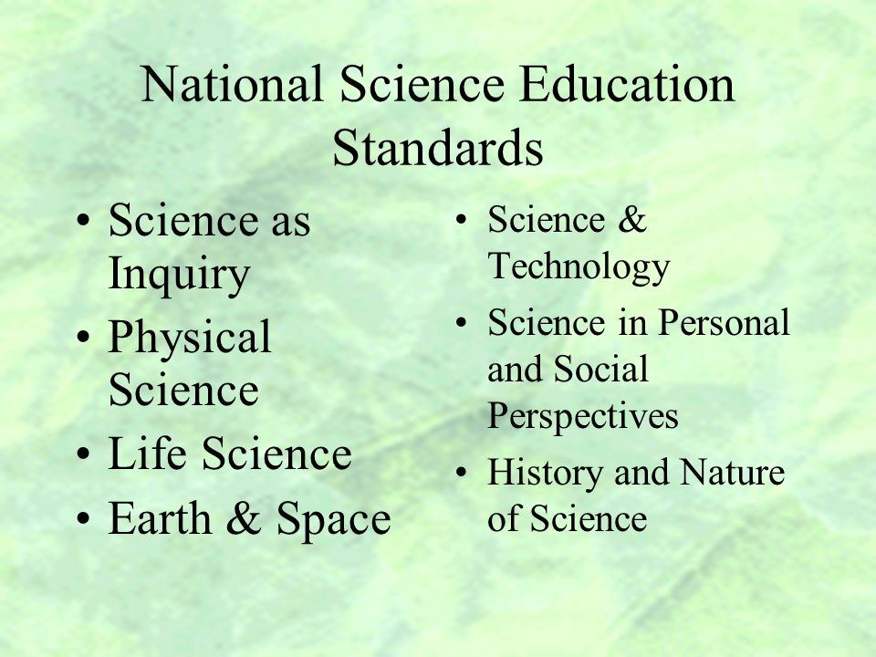 Benchmarks for Science Literacy National Science Education Standards Scope, Sequence, and Coordination of Secondary School Science