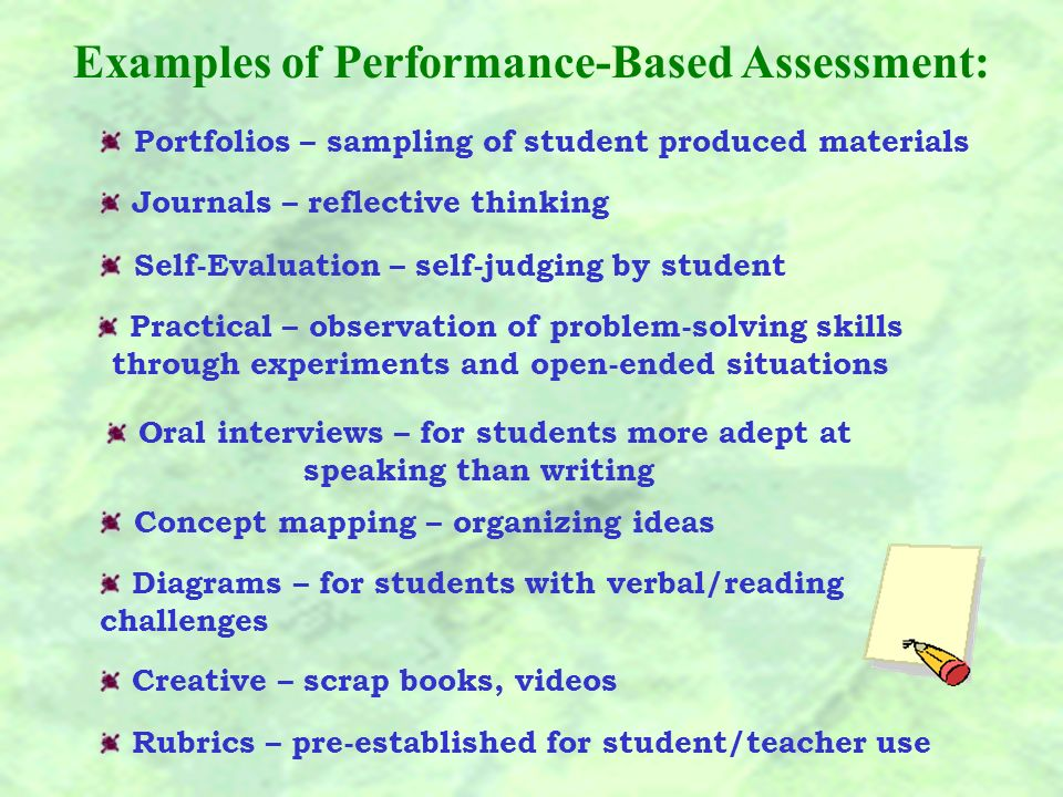 While paper-and-pencil tests are important, the teacher should no longer rely on them as a sole means of assessing student progress and achievement.