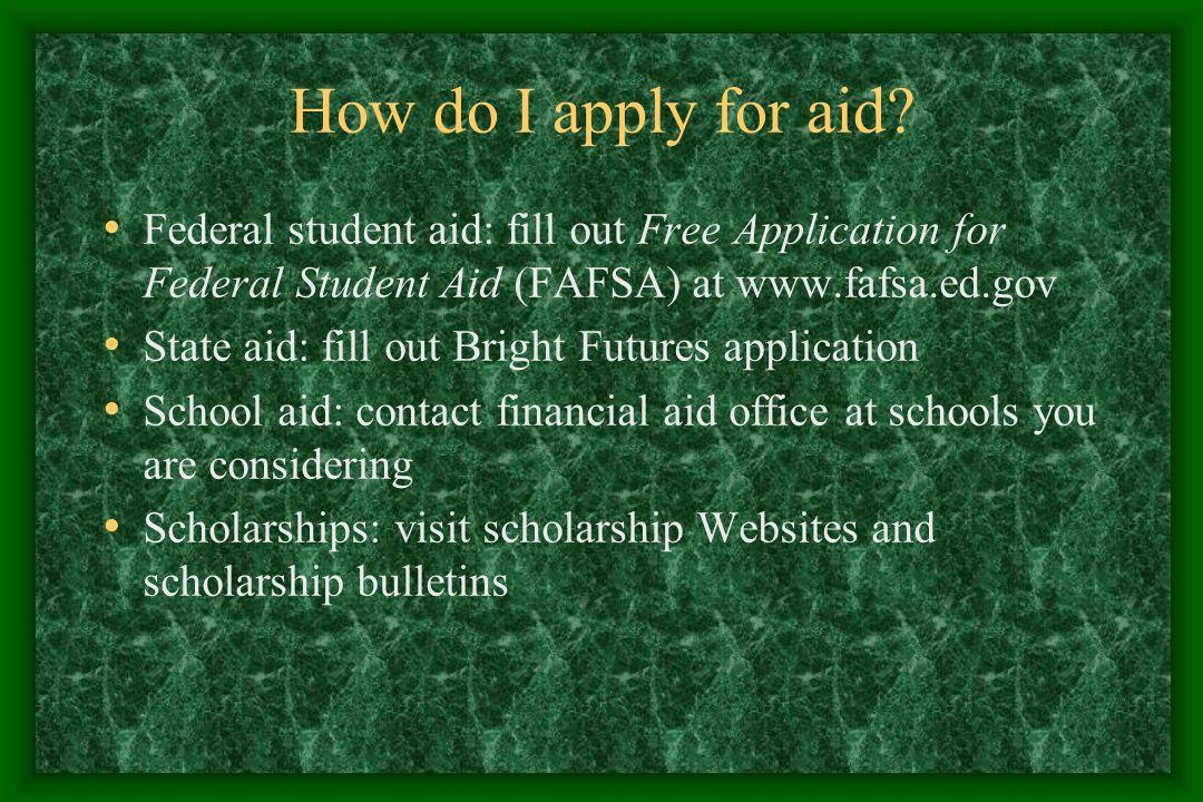 How do I apply for aid.