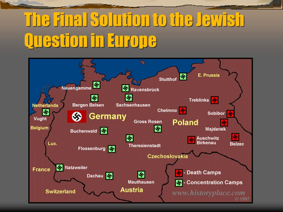 The Final Solution to the Jewish Question in Europe