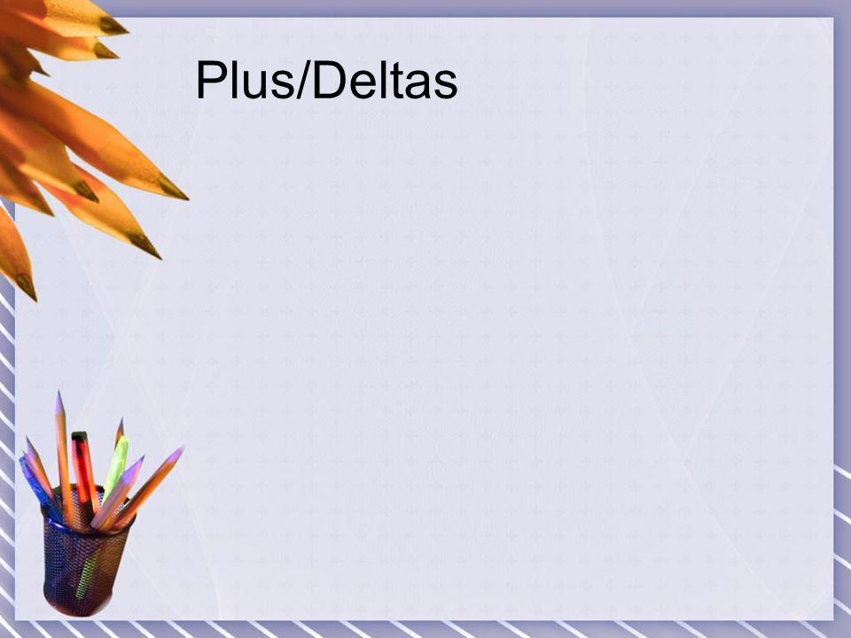 Plus/Deltas