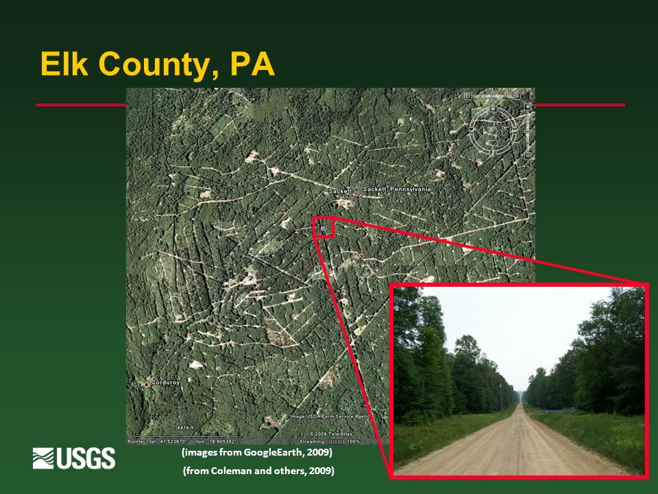 17 Elk County, PA (images from GoogleEarth, 2009) (from Coleman and others, 2009)
