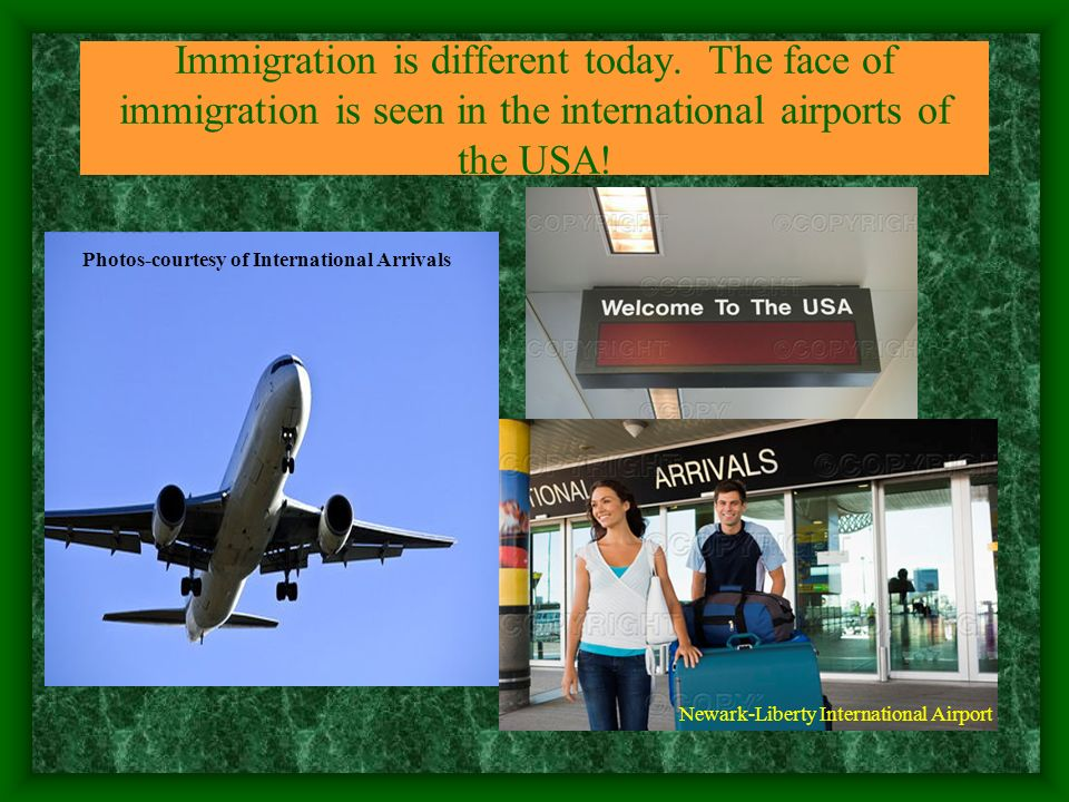 Immigration is different today. The face of immigration is seen in the international airports of the USA! Photos-courtesy of International Arrivals Ne