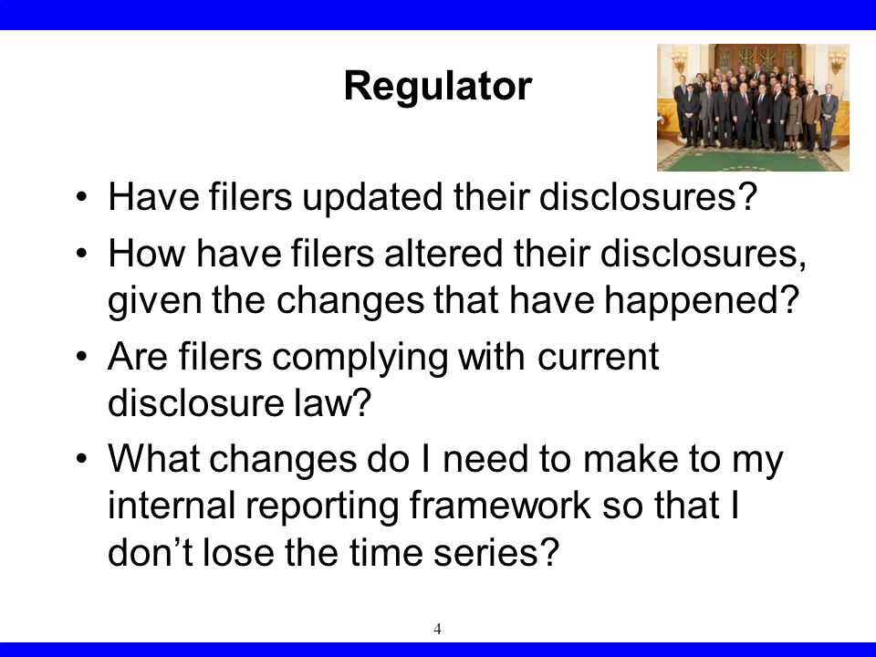 Corporate Filer What changed in the accounting literature that I need to take account of in preparing my document.