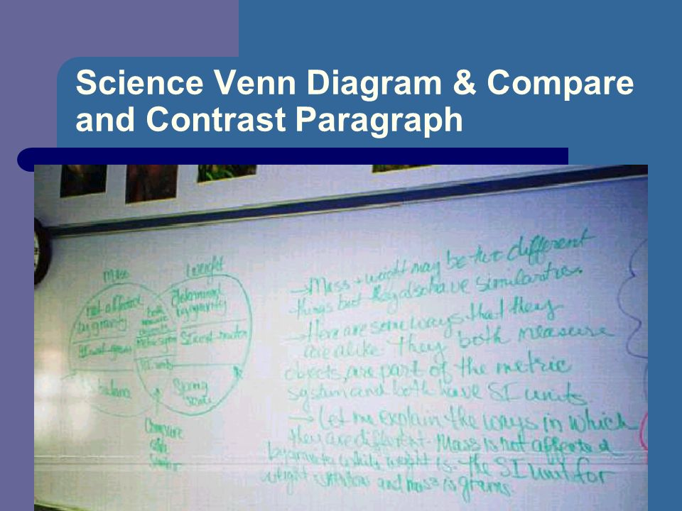 Science Venn Diagram & Compare and Contrast Paragraph
