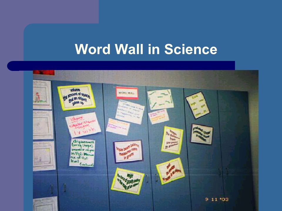 Word Wall in Science