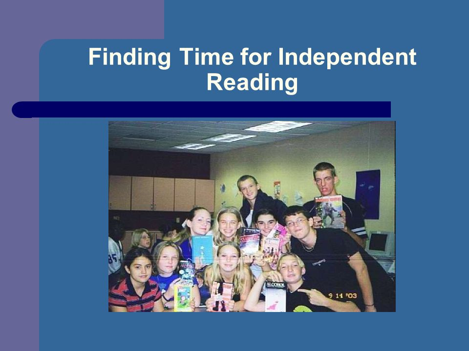 Finding Time for Independent Reading