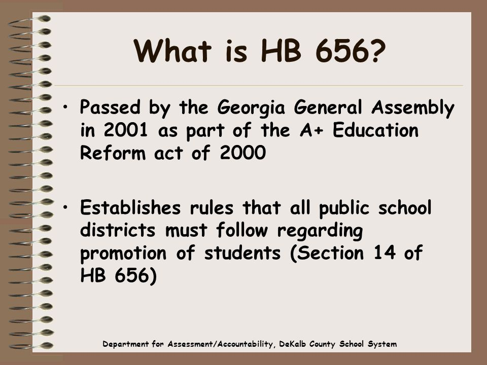 What is HB 656.
