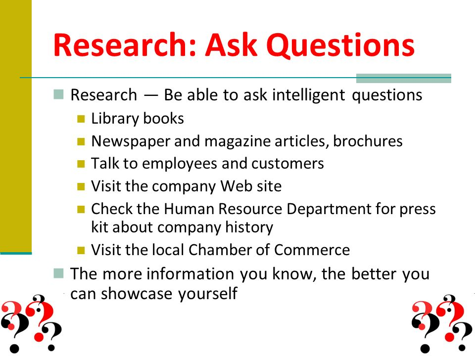 questions to ask when writing a research paper Question: what questions should one ask while reading a scientific journal article i'm talking from experience in life sciences research it depends entirely on your purpose of reading.