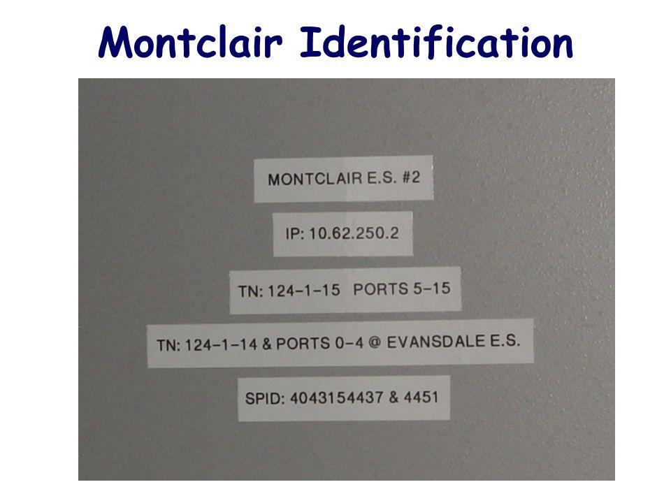 Montclair Identification