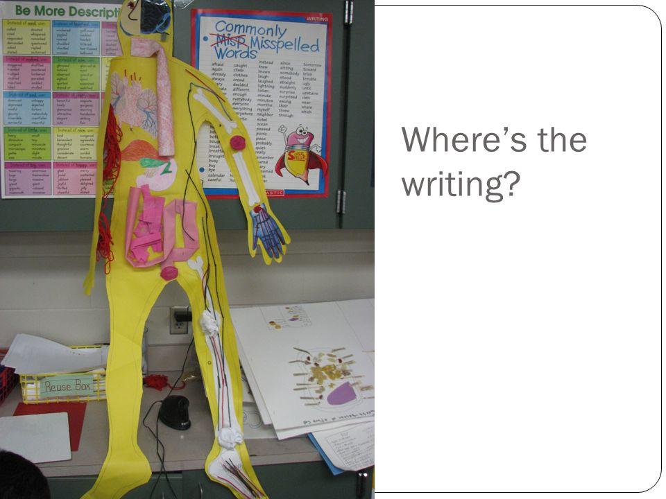 Wheres the writing?