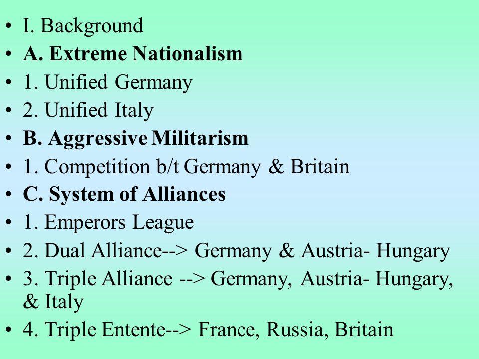 II.War in Europe A. Beginning of the Great War 1.