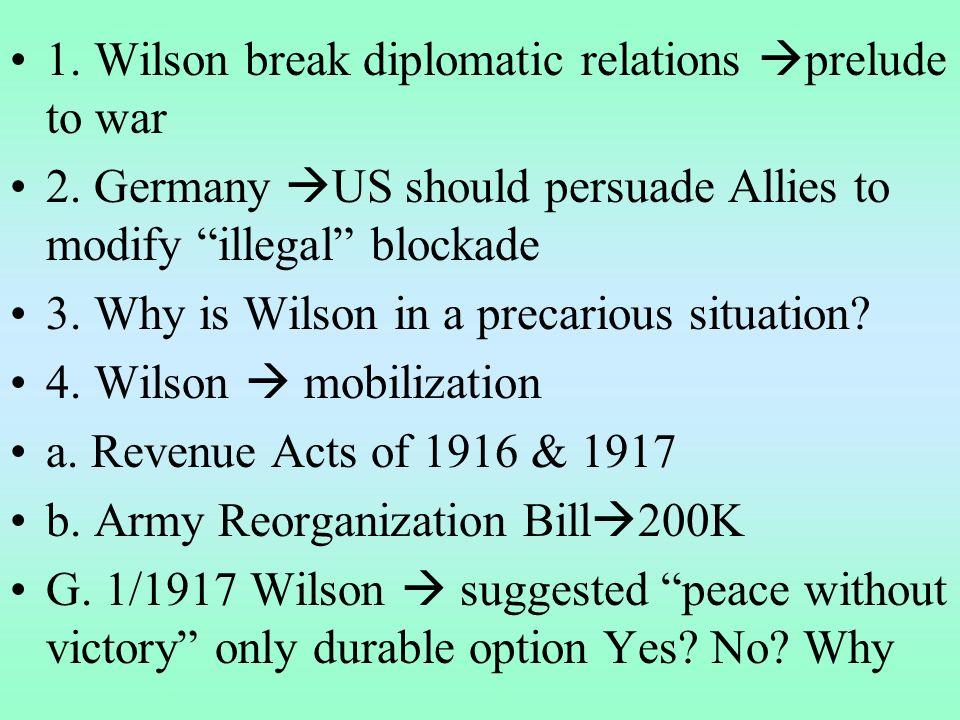III.German aggression pulls US into war A.