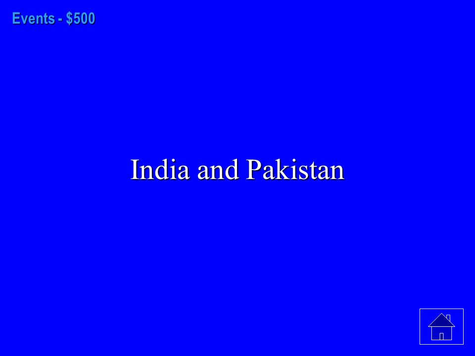 Events - $400 India