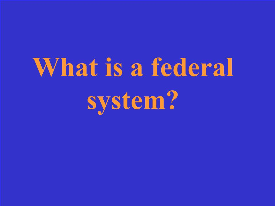 This government system shares power between central and regional Governments.