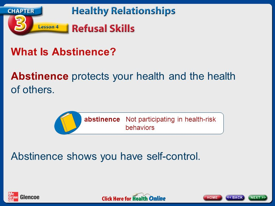What Is Abstinence.