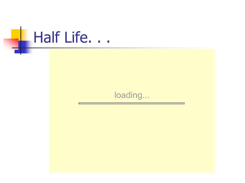 Half Life...