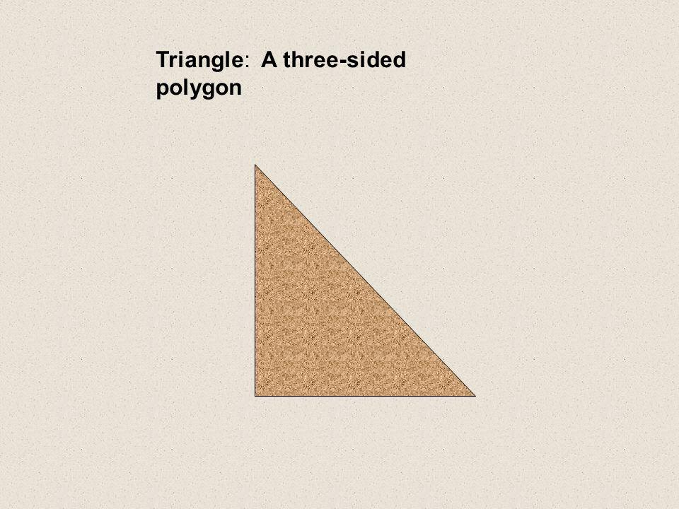 Triangle: A three-sided polygon
