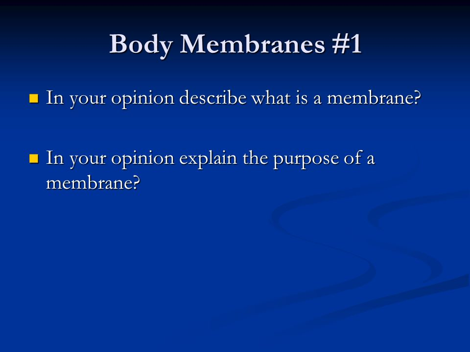 Human Anatomy & Physiology Chapter 4 Skin and Body Membranes