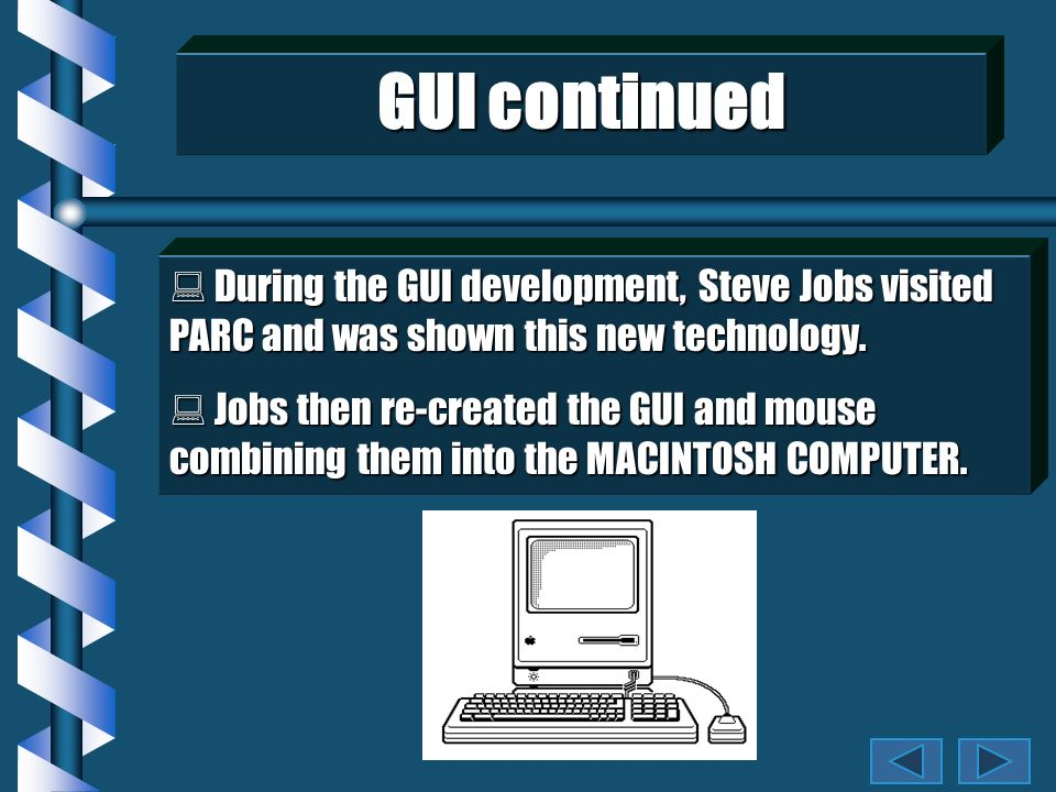 MOUSE USE WITH A GUI MOUSE USE WITH A GUI The pointing device that is used in Windows is called a mouse.