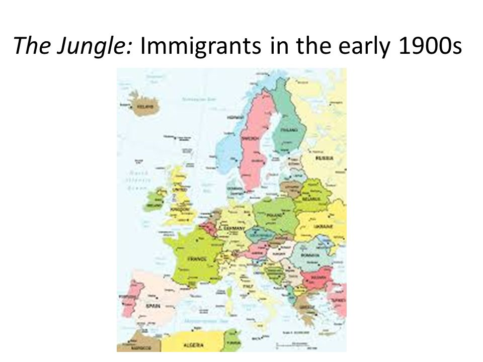 The Jungle: Immigrants in the early 1900s