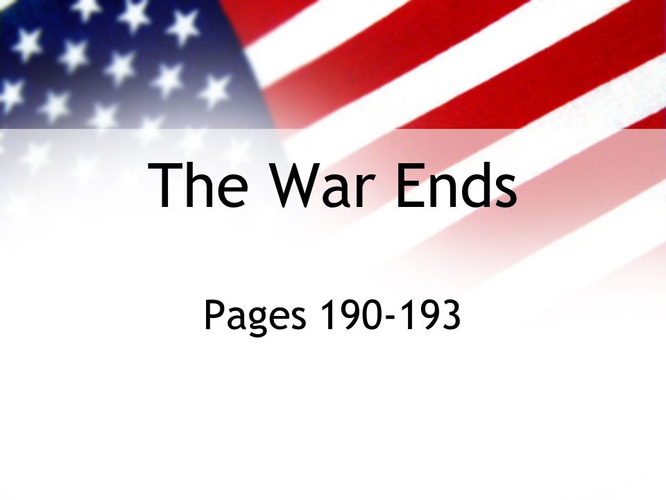 The War Ends Pages 190-193