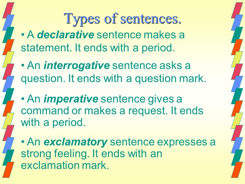 declarative thesis sentence Wesley college writing center: the 3 t's -- thesis statement, topic sentence, & transitional sentence about the author rebekah richards is a professional writer with work published in the atlanta journal-constitution, brandeis university law journal and online at toleranceorg.
