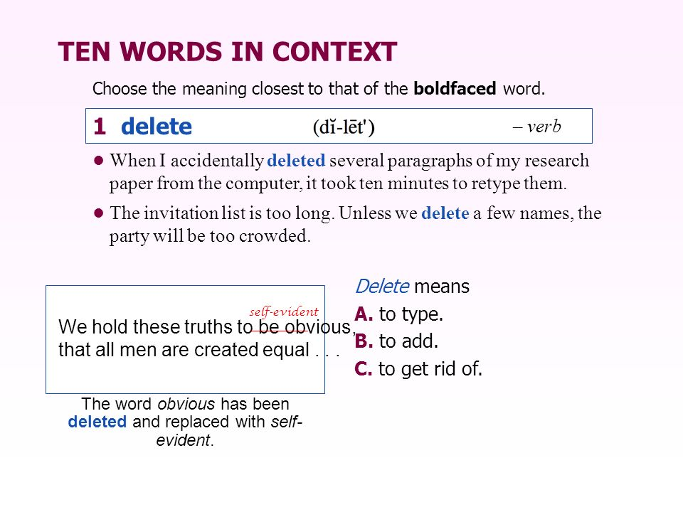 SENTENCE CHECK 1 Complete each item with the correct word from the box.