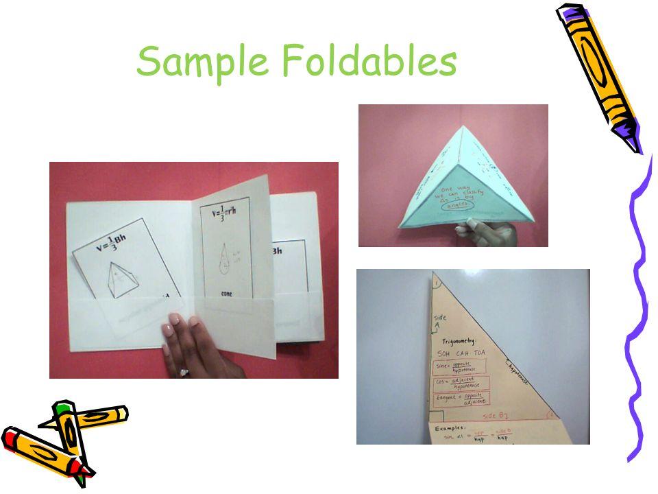 Sample Foldables