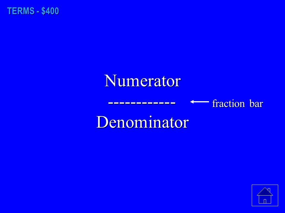 TERMS - $300. Tenths hundredths thousandths
