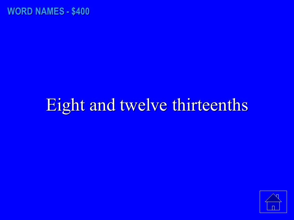 WORD NAMES - $300 14.01