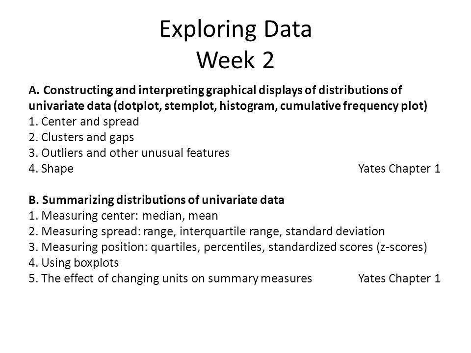 Exploring Data Week 2 A.