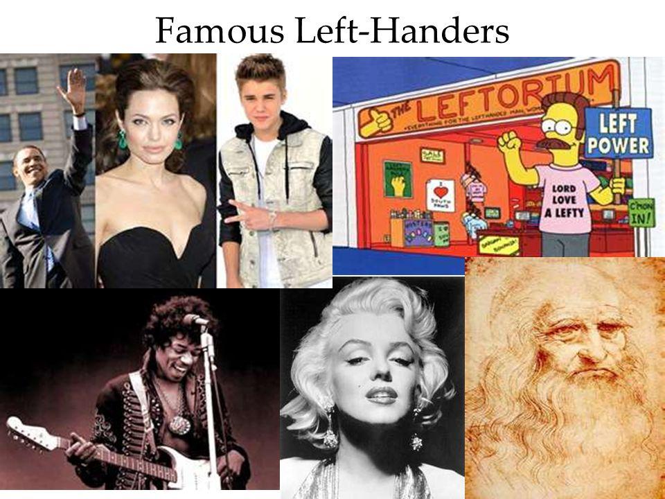 73 Famous Left-Handers BBC