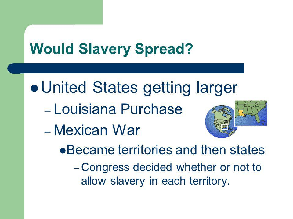 Would Slavery Spread.
