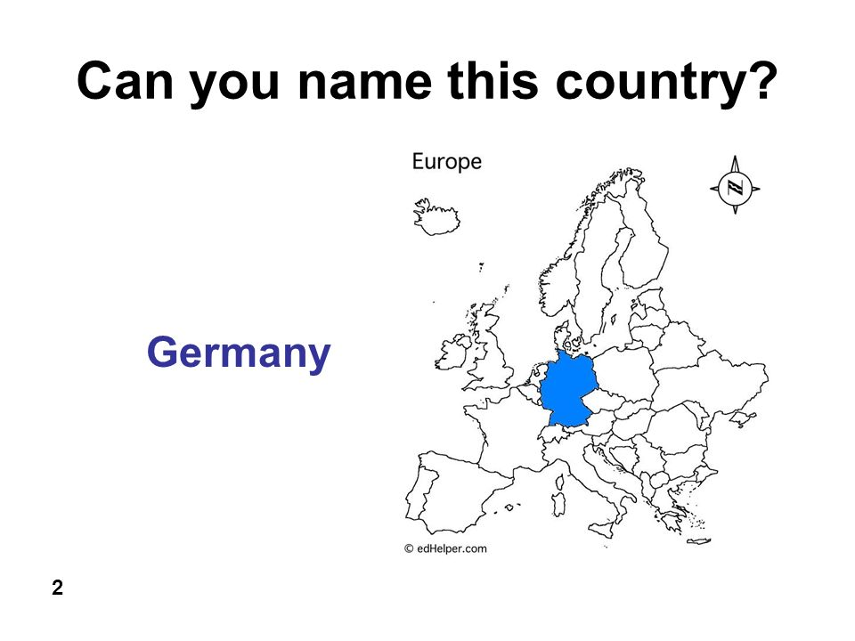 Can you name this country 2 Germany