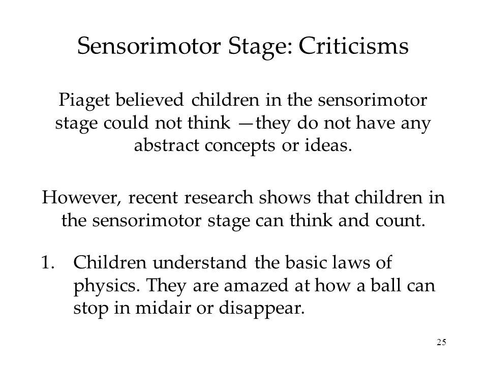 26 Sensorimotor Stage: Criticisms 2.Children can also count.