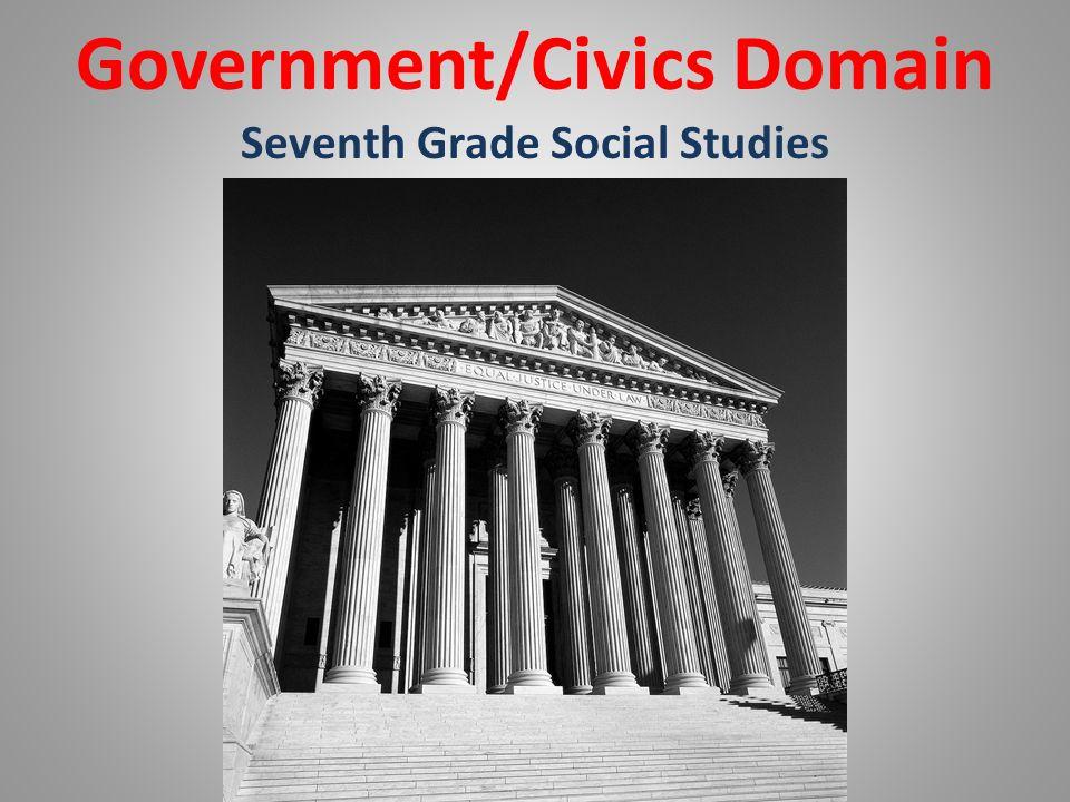 Government/Civics Domain Seventh Grade Social Studies