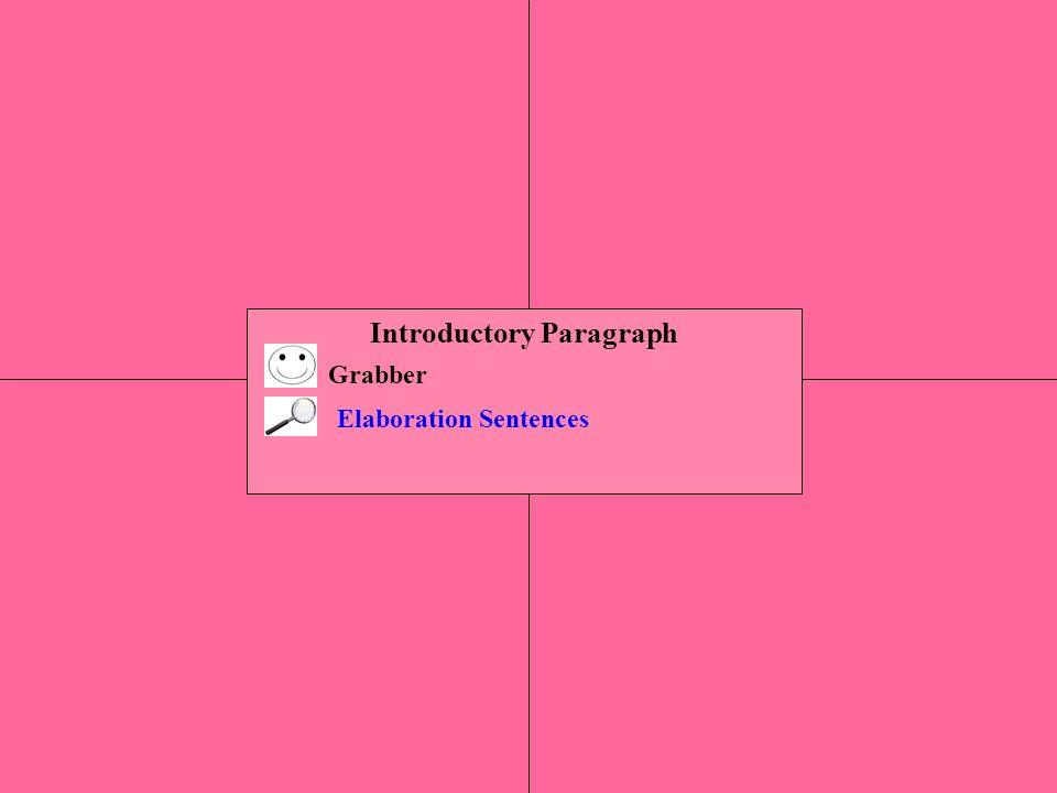 Introductory Paragraph Grabber Elaboration Sentences