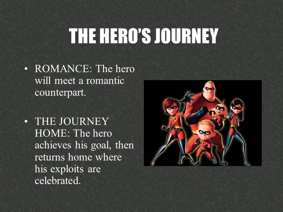 ROMANCE: The hero will meet a romantic counterpart.